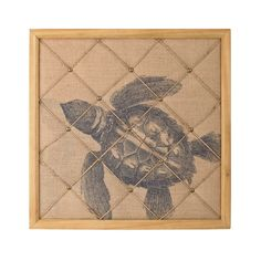 Add a little coastal flare to your home with this Vintage Sea Turtle Note Board.