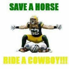 I wish this was a tshirt. Would be awesome for my son. Huge Clay. Packers  Vs Cowboys MemesDallas Cowboys MemesPackers FunnyGreen Bay ... 8b8d832d5