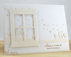 Create With Me: White on White window card. Would make a nice Christmas card with some minor adjustments.
