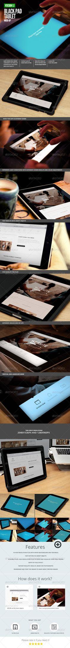 Black Pad | Tablet App UI Mock-Up Download here: https://graphicriver.net/item/black-pad-tablet-app-ui-mockup/3374437?ref=KlitVogli