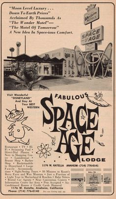 https://flic.kr/p/4JMyA1   Fabulous Space Age Lodge   I got this from someones trash a zillion years ago -  AAA California -Nevada tour book from 1967-68, I finally got around to scanning some of it