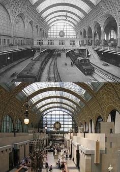 gare d'orsay before, musée d'orsay after    pic courtesy of: http://travelwithterry.blogspot.com/