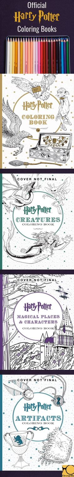 The Official Harry Potter Coloring Books! I've been such a huge Potter fan since I was younger and these books coming out is sort of like reliving the excitement of the Harry Potter series being released, in a small, more artistic way. ;)
