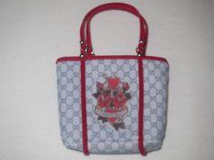 Blythe Grey Red Flower Pattern Bag New | eBay
