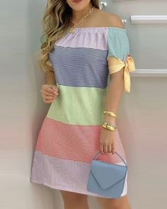 Casual Dresses, Short Dresses, Fashion Dresses, Summer Dresses, Trend Fashion, Womens Fashion, Off Shoulder Casual Dress, Sweat Dress, Chic Outfits