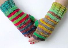 Fingerless mittens // fingerless gloves // Noro by blueberryfields, $45.00