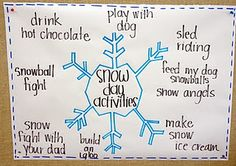 What might you do on a snow day