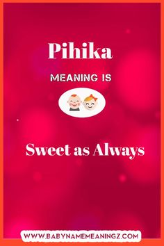 Pihika name meaning
