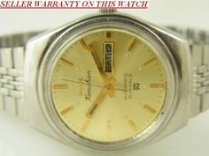 MECHANICAL HMT KANCHAN AUTOMATIC INDIAN MENS D/D WATCH~WARRANTY ON ALL PRODUCTS~ #Collectible