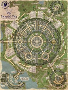 A map of the Elder Scrolls Oblivion's Imperial City, there is too much stuff in the Imperial City to note on my map of Cyrodiil so I made another map. The map has a hand painted look but was made e...