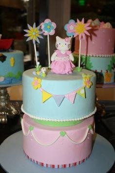 hello kitty birthday cake  Cake by Rostaty