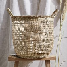 Seagrass Open Weave Basket | Laundry & Storage | The White Company UK