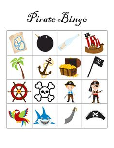Pirate Day, Pirate Birthday, Pirate Theme, Bingo Pictures, Mickey Mouse Parties, Minnie Mouse, Pirate Pictures, Pirate Activities, Pirate Crafts