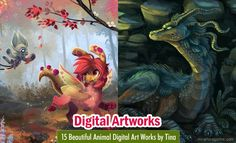 15 Beautiful Animal Digital Art Works by Tina. Read full article: http://myartmagazine.com/animal-digital-art-works-by-tina | more http://myartmagazine.com/norway-artists
