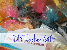 """Inspired by an idea shared by @Laurie Turk TipJunkie.com, I took the DIY Teacher Gift """"Just Add Ice Cream"""" concept and executed it in the best way I knew how! It was a lot of fun! Enjoy!  What are your favorite teacher gifts?"""