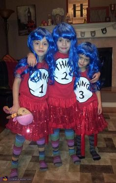 Thing 1, Thing 2, Thing 3 - Halloween Costume Contest