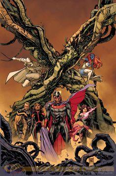 Uncanny X-Men #1-#2 variant cover by Ken Lashley *