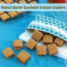 Peanut Butter Sandwich Graham Crackers   Teaspoonofspice.com Kid (and adults) will love these!