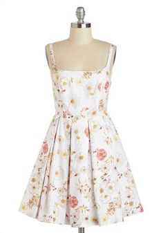 Whispering Blossoms Dress. Tonights agenda calls for a high-style ensemble, and as you don this subtly exquisite dress, your knack for style blooms before the mirror! #whiteNaN