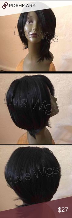Synthetic Wig - Tasha 🚫SOLD🚫 Brand new never worn in stock. Regular synthetic wig styled into a side bob. Super cute curls at the bottom. Color is 1-black. Hair length is at 10-12 inches. Accessories Hair Accessories