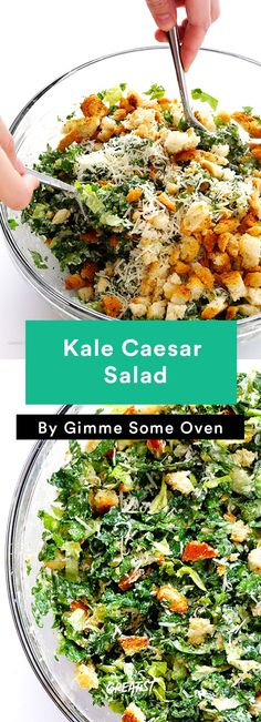 7. Kale Caesar Salad #healthy #salads https://greatist.com/eat/summer-salad-recipes-youll-actually-want-to-eat