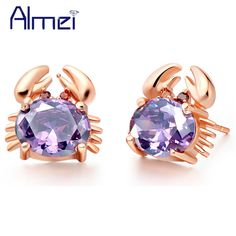 Find More Stud Earrings Information about 925 Sterling Silver Earrings Crystal Earrings for Women Korean Jewelry Cute Crab Animals Rose Gold Plated Jewellery Ulove R695,High Quality earrings panda,China earring genie Suppliers, Cheap earrings symbolism from Almei Jewelry Store on Aliexpress.com