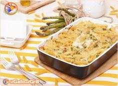La dolcezza dei piselli e degli asparagi, lega perfettamente con il cipollotto e il gusto più deciso della pancetta in un abbraccio cremoso ...