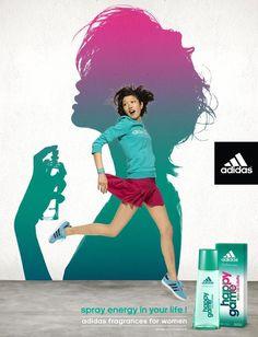 #Advertising #Adidas fragrance for Women - by Y & R Paris - 2011