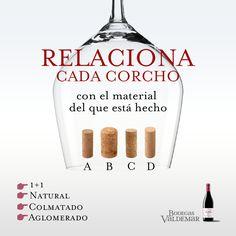 ¿Sabrías decir de qué esta hecho cada uno de estos corchos? Natural, Corks, Wine Cellars, So Done, Nature, Au Natural
