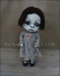 Gothic Art Doll. BJD. Little Girl Poppy by Dark Alley Dolls.