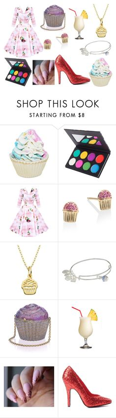 """Cupcake"" by hcps-cleghorse ❤ liked on Polyvore featuring Forever 21, Suva Beauty, Sydney Evan, Lord & Taylor, Alex and Ani and Judith Leiber"