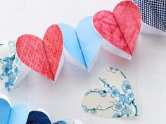 Patriotic heart garland DIY!