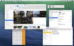 Concepto de OS X Mavericks minimalista, con la misma apariencia que iOS 7