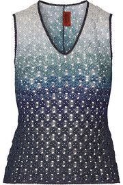 Metallic crochet-knit top | Missoni | 70% off | US | THE OUTNET
