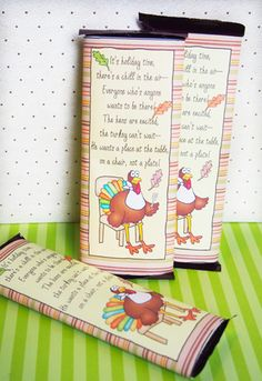 "Thanksgiving Ideas Candy Bar Wrapper ""Invite A Turkey"""