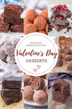 Win your sweetheart with these sweet, decadent but completely guilt-free, easy to make Valentine's Day Desserts, including indulging dark chocolate brownies, aphrodisiac-rich chocolate truffles, raw chocolate treats and more. ------ #valentinesday2021 #chocolate #chocolatelover #darkchocolate #darkchocolatelover #brownies #brownielovers #dessert #dessertrecipes #healthydessert #chocolatedessert #homemade #homebaking #recipeoftheday #recipe #recipeshare #recipeideas Raw Chocolate, Chocolate Treats, Chocolate Brownies, Chocolate Truffles, Chocolate Recipes, Chocolate Strawberries, Chocolate Covered, Valentines Day Chocolates, Valentines Day Desserts