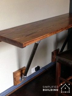 How To Build A Cost Efficient Desk That Folds Out Of The
