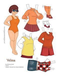 Miss Missy Paper Dolls: Scooby Doo Paper Dolls Velma by Melissa Smith