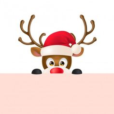 Rena em santa hat peeping out Vetor grát. Christmas Drawing, Christmas Art, Christmas And New Year, Christmas Decorations, Hygge Christmas, New Year Images Hd, Happy New Year Pictures, Cute Christmas Wallpaper, Christmas Background