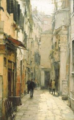 View Our Full Collection of Artwork by DMITRI DANISH. The Art Shop ships worldwide. Watercolor Landscape, Watercolor Paintings, Watercolors, Venice Painting, Surrealism Painting, City Scene, City Art, Urban Landscape, Fine Art Gallery