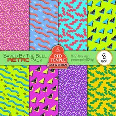 80s / 90s Saved By The Bell-Style Hypercolor Retro by RedTempleArt