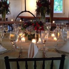 Lovely fall wedding tablescape setup at the Historic Prallsville Mills. Photocredit: Chez Alice Caterers