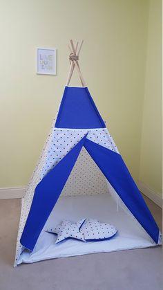 Red and navy stars teepee tent / teepee play tent/ kids wigwam / boys tipi