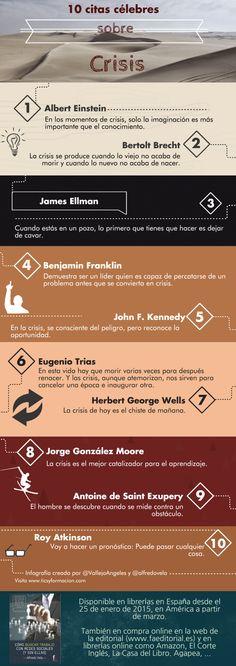 10 #citas célebres sobre #Crisis #infografia