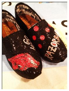 Razorback Tiny Toms by CustomTOMSbyJC on Etsy, $60.00 HOLY COW... I am in love and I wish they were not $60!