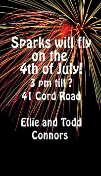 Let your family and friends know sparks will fly in July. Announce your of July wedding or summer party with fireworks save the date magnets. July 4th Wedding, 4th Of July Party, Fourth Of July, Aqua Wedding, Dream Wedding, Firework Nail Art, Wedding Fireworks, Fireworks Cake, Monsieur Madame