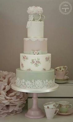 Shabby Chic Wedding Cake