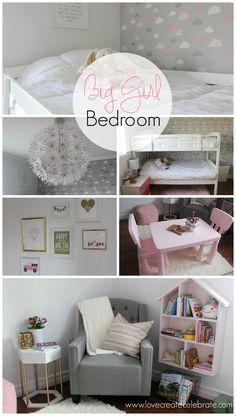 Big Girl Bedroom Collage