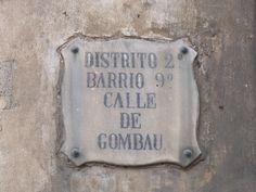 Spain Barcelona street name sign