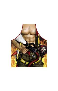 Con il grembiule pompiere anche tu puoi scivolare nel ruolo di un eroico pompiere con six pack abs e manichetta antincendio. Contenuto della confezione: Un grembiule Colore: beige / verde / giallo / rosso Materiale: 100% Poliestere Dimensioni: circa 57cm larghezza / 75 centimetri cm lunghezza